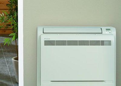 Installation de climatisation réversible console